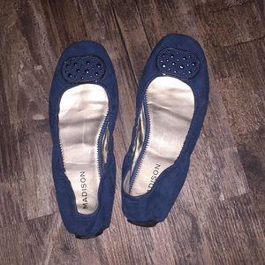 Size 9 1/2 blue slip on shoes.